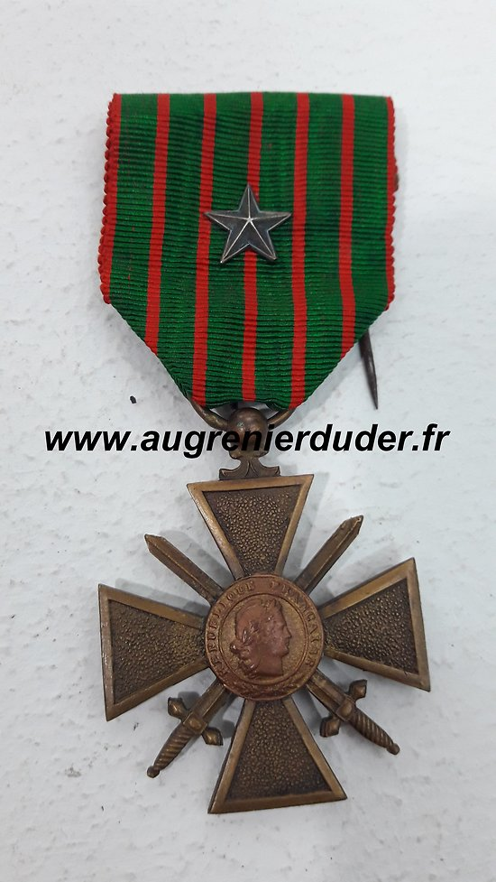 Médaille croix de guerre 1914/1918 France wwI