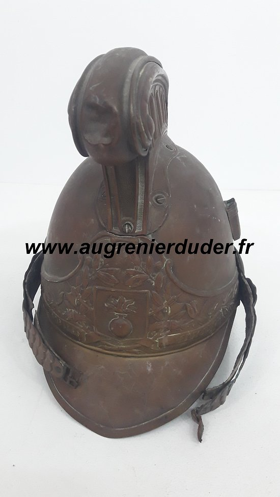 Casque de pompier 1870 / French helmet fireman 1870