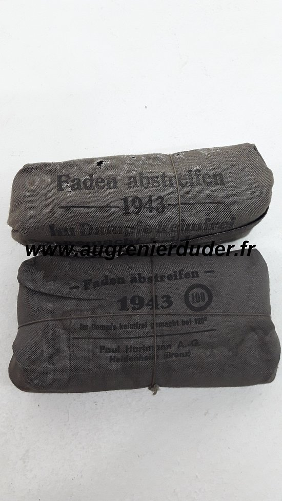 Lot de deux pansements Allemands 1943