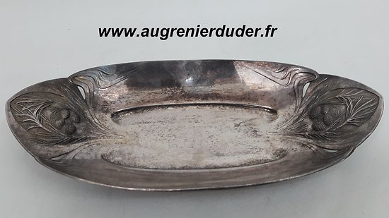 Plat  de mess officier 7ème BCA 1910/1930 France