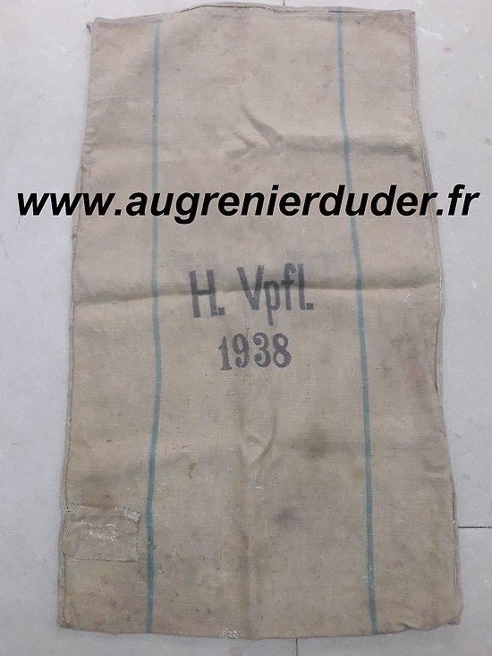 Sac à farine 1938 Allemand wwII
