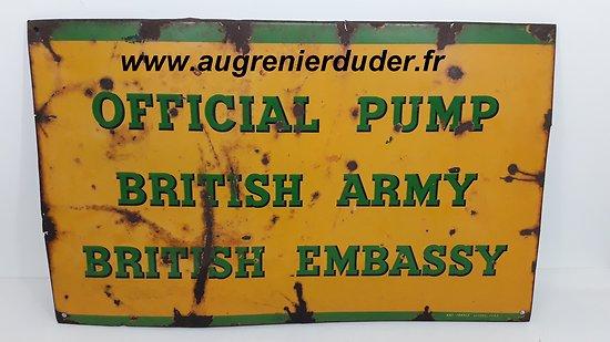 Panneau émaillé BP Forces Britanniques wwII