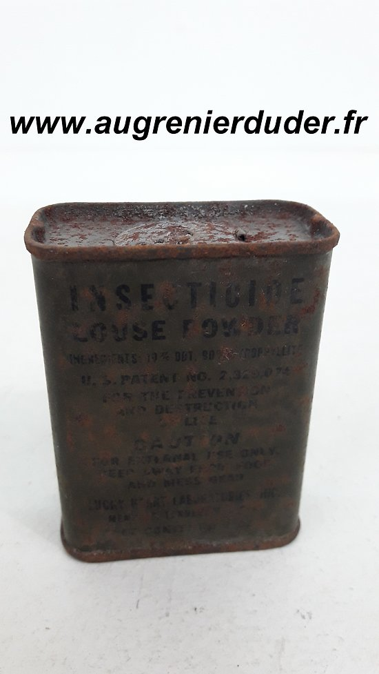 Insecticide louse powder US wwII