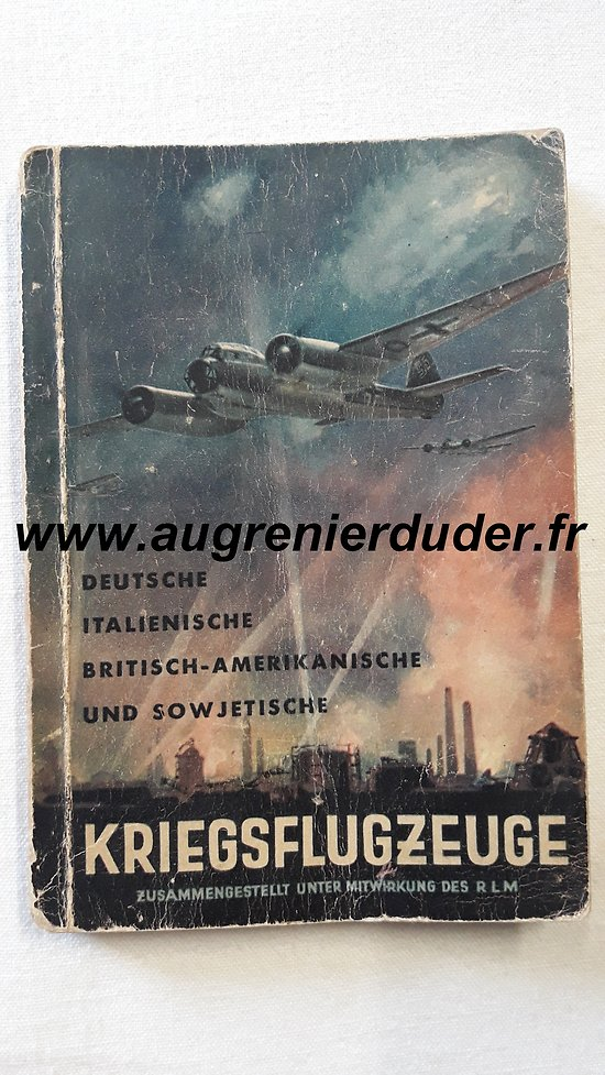 Livret identification Luftwaffe wwII