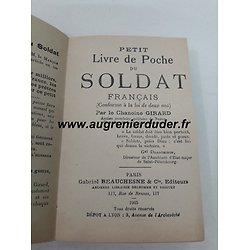 livret de poche du soldat France wwI
