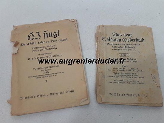 Deux livrets de chants Allemagne wwII