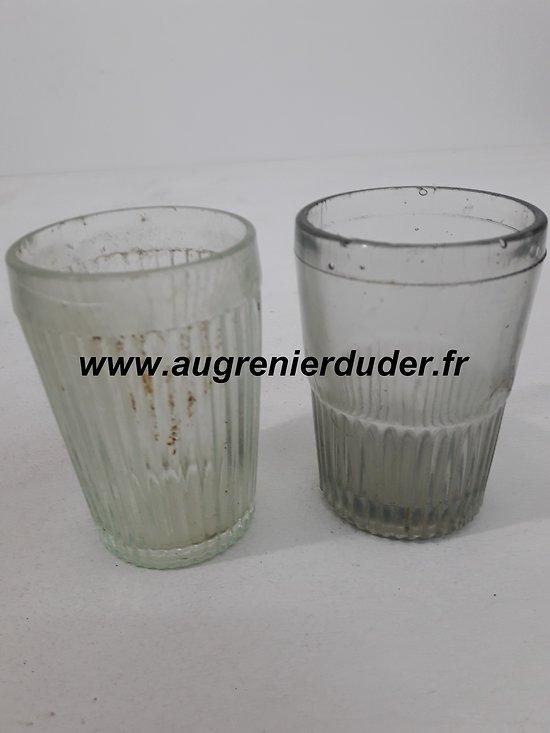 Lot de deux verres à moutarde Allemagne wwI