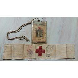 Carte et brassard croix rouge Belge 1944