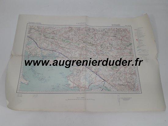 Carte routière Vannes 1936 Allemagne wwII