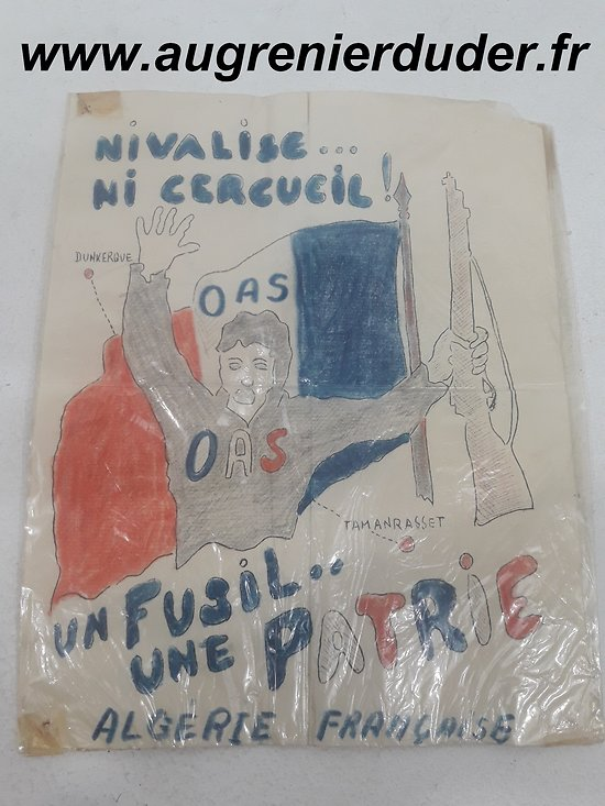 Tract OAS France post wwII