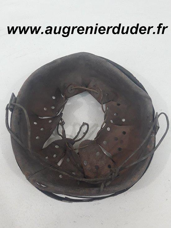 Intérieur cuir cerclage casque Allemagne wwII