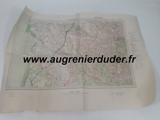 Carte routière Angouleme 1936 Allemagne wwII