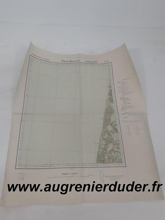 Carte routière Vieux Boucau 1936 Allemagne wwII