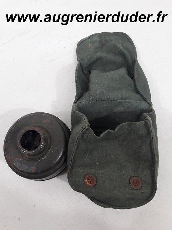 Etui et cartouche Fe37 masque à gaz Allemagne wwII