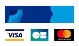 Paiement sécurisé par CB et Paypal sécurisés par certificat SSL