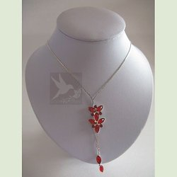 Collier Strass Rouge