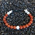 Bracelet Duo cornaline et pierre de lune