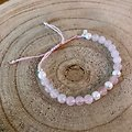 Bracelet Duo quartz rose et perle véritable