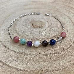 """Bracelet """"Chemin de vie"""" en pierres naturelles et argent"""