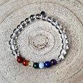 Bracelet 7 chakkras et cristal de roche