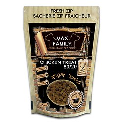 CHICKEN TREAT 80/20 Grain Free 100g by MAX FAMILY EXCELLENCE PET FOOD