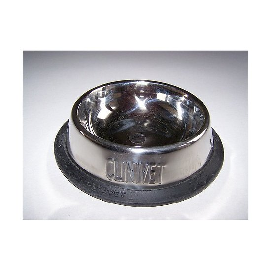 Gamelle inox antidérapante CLINIVET ø17/24 pour chien ou chat