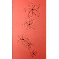 Décoration murale en métal Fleurs de Russie
