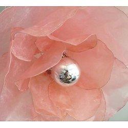 Suspension Fleur rose poudré