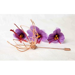 Broche fibule Fleur de safran