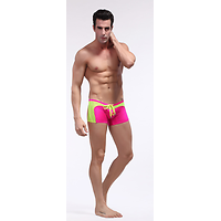 Boxer de bain WJ Bi Color Fluo Ultra Sexy Rose