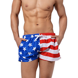 Short de plage homme United States Flag