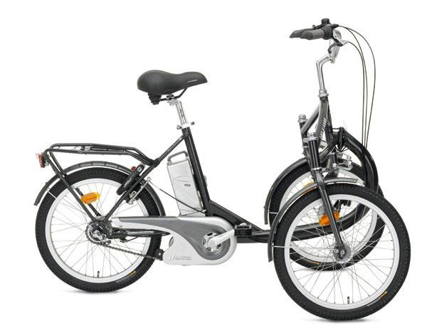 Le tricycle électrique BUZIBI Helkama tricycle avant