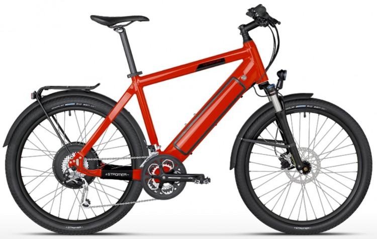 Vélo électrique STROMER ST-1 Mountain 25 susp, H, 27 vit, rouge