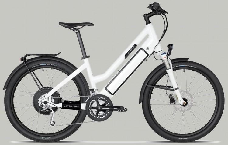 Vélo électrique STROMER ST-1 Mountain 25 susp, Mixte, 27 vit, blanc