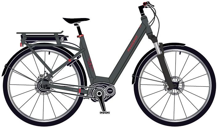 Vélo électrique Peugeot EC01 DEORE 10V