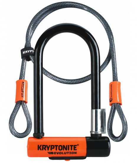 Antivol velo KRYPTONITE U Evo MINI 7 avec cable KryptoFlex