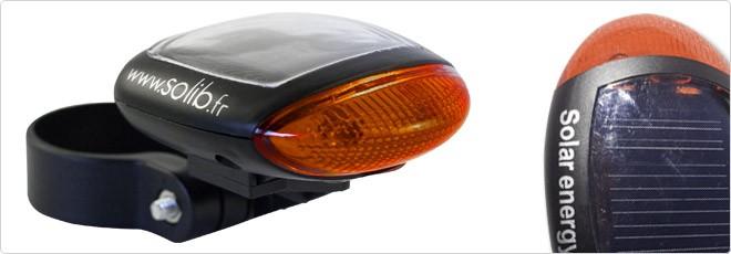 Lampe vélo arrière solaire Solib'