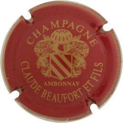 10. bordeaux et or striée Capsule de champagne BEAUFORT Claude et Fils