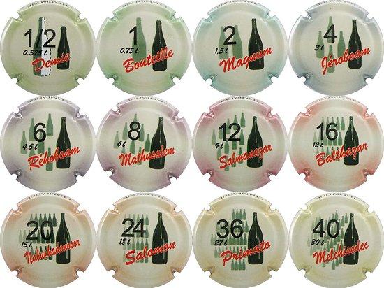 Série de 4  capsules de champagne générique les 4 Avions