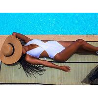 Maillot de bain femme 1 pièce trikini croisé