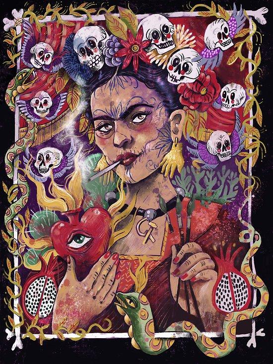Impression d'art Frida Kahlo au Sacré Coeur