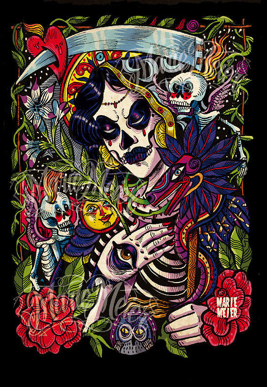 Impression d'art Santa Muerte