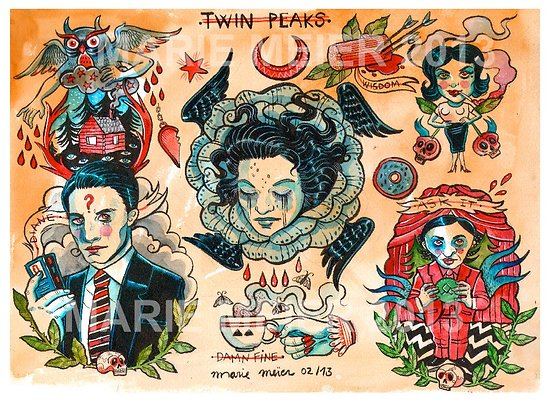 Impression d'art TWIN PEAKS FLASH