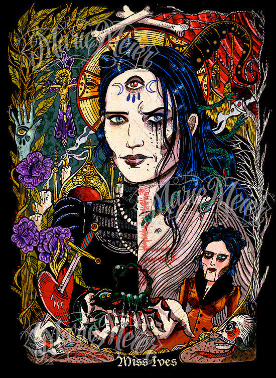 Impression d'art Miss Ives ( Penny Dreadful , premiére série )