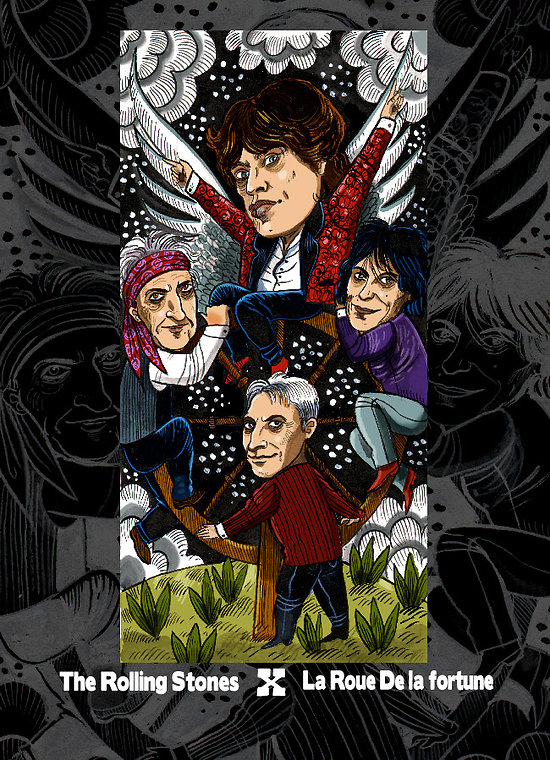 Impression d'art Rolling Stones Tarot