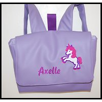 "Cartable simili cuir ""licorne"""