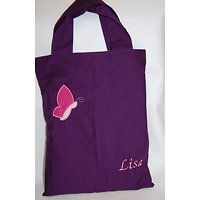 Tote bag appliqué papillon