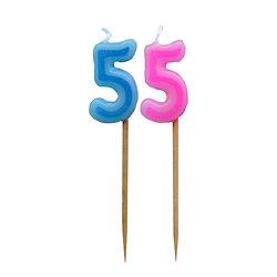 Bougie Chiffre 5 - Rose ou bleu