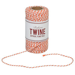 Ficelle bicolore orange et blanche Bakers Twine