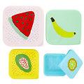 Set de 4 boîtes de conservation Fruits